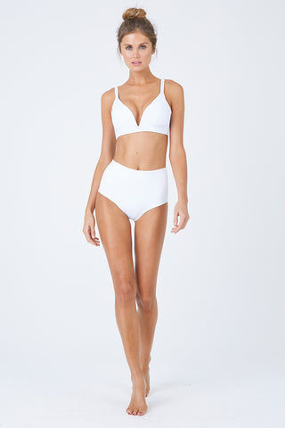 MALAI Baltic Crop Bikini Top - White Bikini Top | White| Malai Baltic Crop Bikini Top – White. Features:  Crop top bikini design  Supportive adjustable shoulder straps Double straps at back Provides additional padding Front View