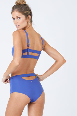MALAI Baltic Crop Bikini Top - Sodalite Blue Bikini Top | Sodalite Blue| Malai Baltic Crop Bikini Top – Sodalite Blue. Features:  Crop top bikini top  Supportive adjustable shoulder straps Double straps at back Provides additional padding Front View