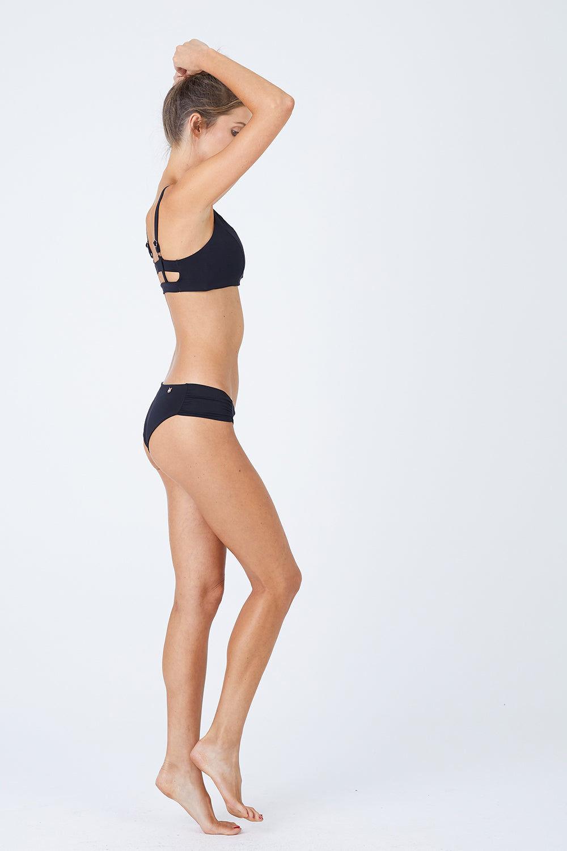 MALAI Baltic Crop Bikini Top - Black Bikini Top |  Black| Malai Baltic Crop Bikini Top - Black. Features:  Crop top bikini top  Supportive adjustable shoulder straps Double straps at back Provides additional padding Front View