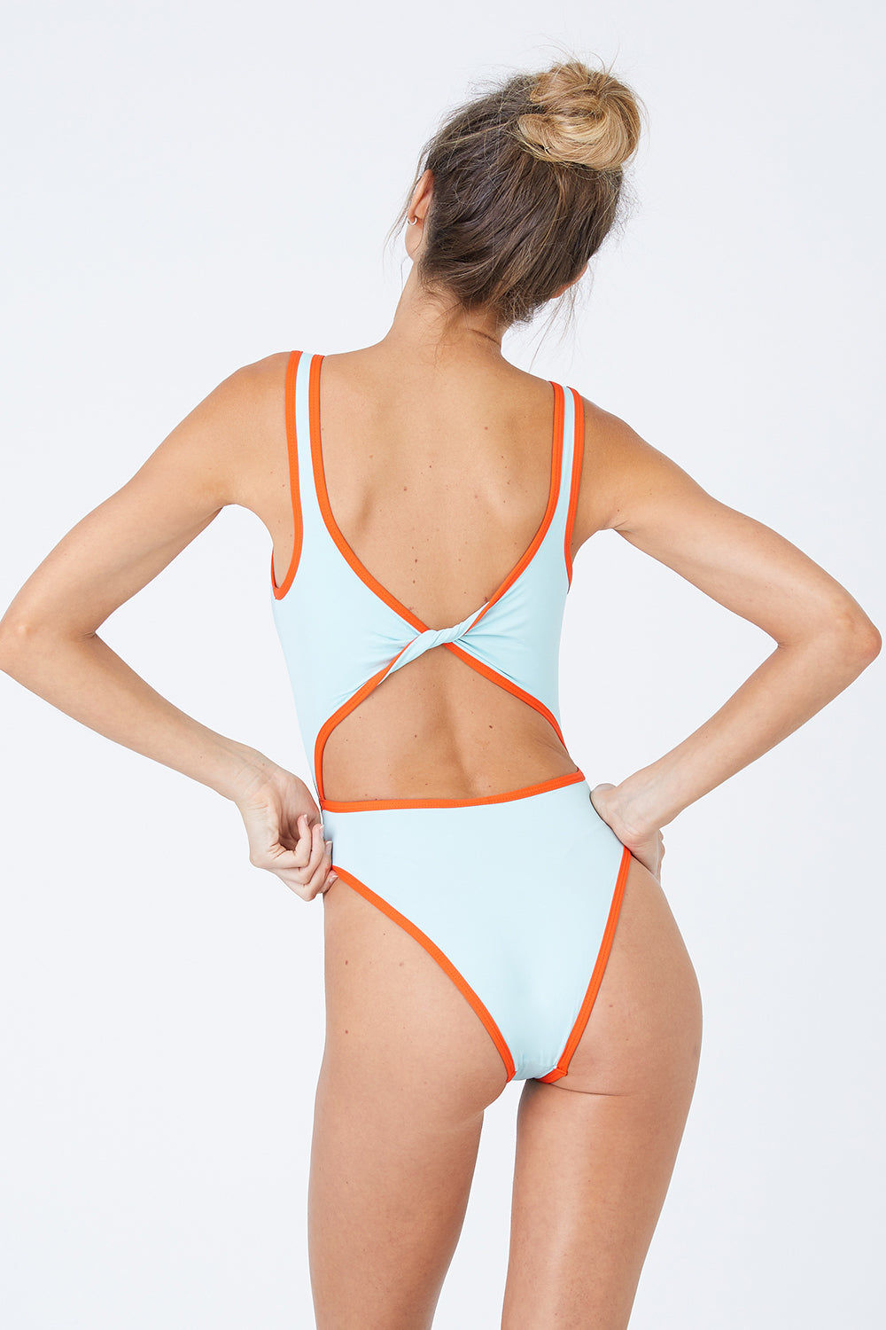 L SPACE Kira Center Cut Out One Piece Swimsuit - Light Turquoise One Piece |  Light Turquoise| L Space Kira Center Cut Out One Piece Swimsuit - Light Turquoise.