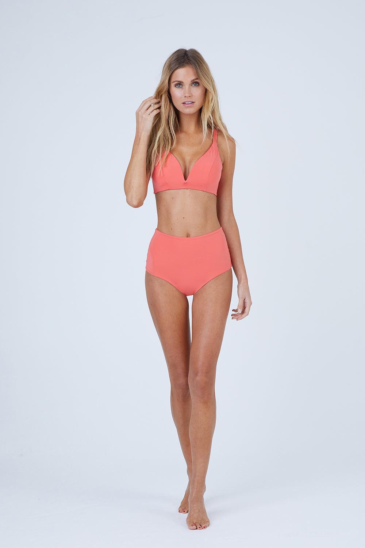 MALAI Baltic Crop Bikini Top - Tangerine Bikini Top | Tangerine| Malai Baltic Crop Bikini Top – Tangerine. Features:  Crop top bikini top  Supportive adjustable shoulder straps Double straps at back Provides additional padding Front View