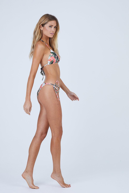 MALAI Salish Triangle Bikini Top - Verdant Mangrow Bikini Top | Verdant Mangrow| Malai Salish Triangle Bikini Top - Verdant Mangrow. Features:  Triangle bikini top Removable pads Halter neck tie Adjustable back tie Front View