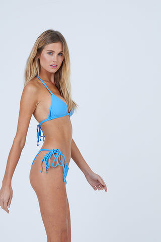 AILA BLUE Urchin Triangle Bikini Top - Patriot Blue Bikini Top | Patriot Blue| Aila Blue Urchin Triangle Bikini Top - Patriot Blue Triangle bikini top Dual adjustable straps at the neck and back Front View