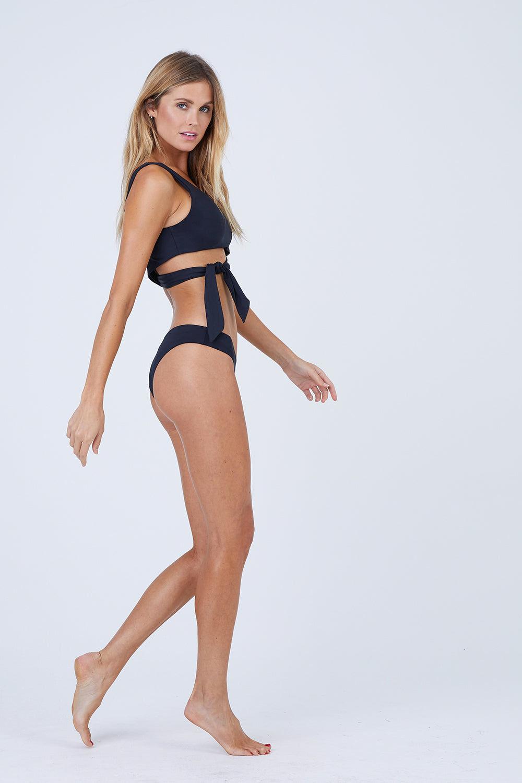 TAVIK Ali Bikini Bottom - Black Bikini Bottom | Black| Tavik Ali Bikini Bottom Back View