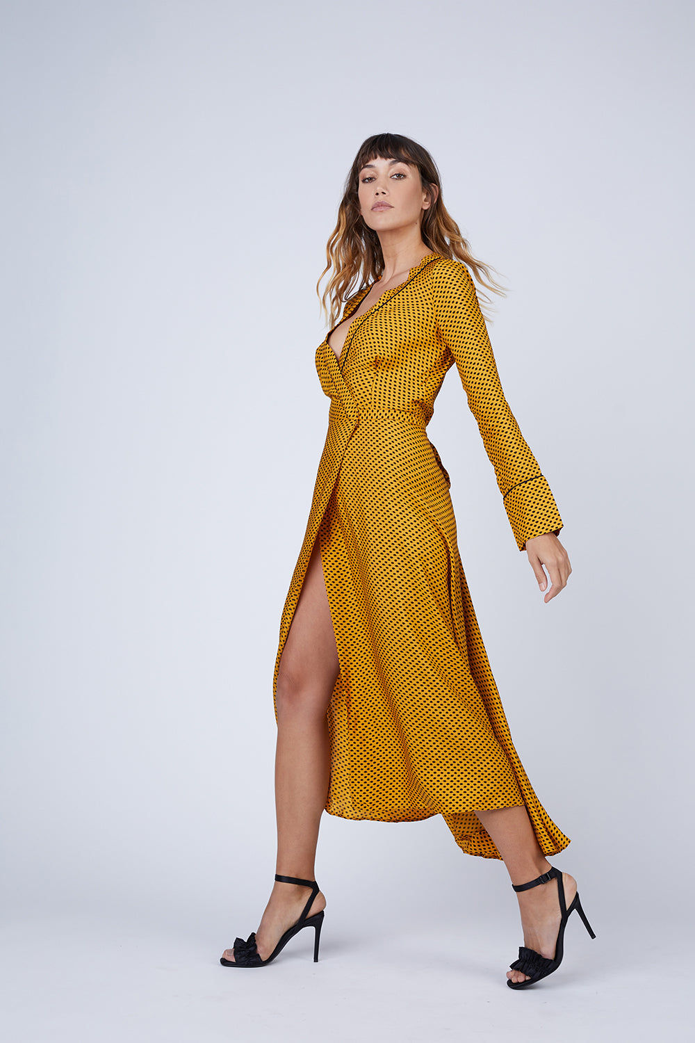 BEC & BRIDGE Sun Valley Midi Dress - Spot Print Dress | Spot Print| Bec & Bridge Sun Valley Midi Dress - Spot Print. Features:  Wrap dress with matching tie at waist Midi length Relaxed fit 100% Viscose Made in Australia Front View