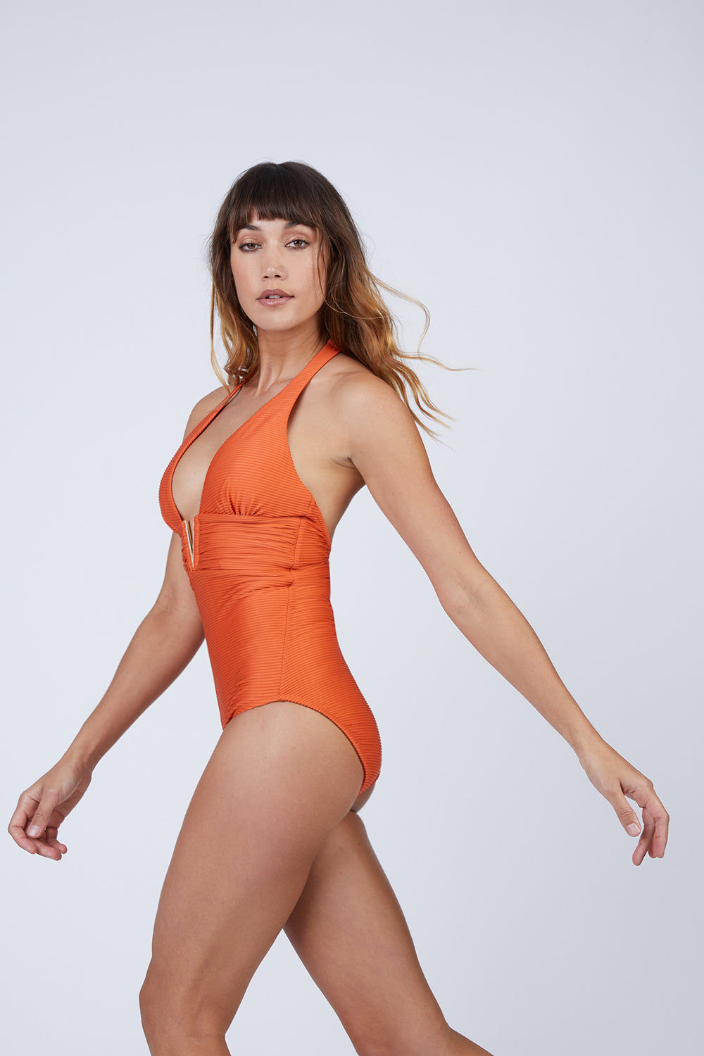 5b0fa00dbd ... HEIDI KLEIN V Bar One Piece Swimsuit - Orange One Piece | Orange| Heidi  Klein ...