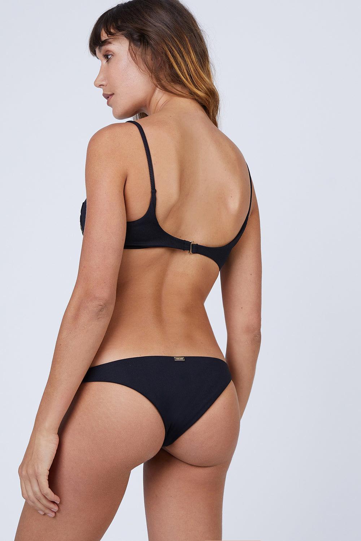 AMAIO SWIM Irina Classic Bikini Bottom - Black Bikini Bottom   Black  Amaio Swim Irina Classic Bikini Bottom - Black. FEATURES:  High leg cut. Moderate to minimal coverage. Back View