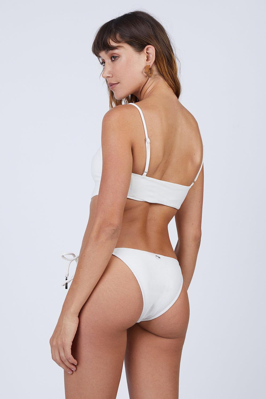 ROSA CHA Bossa Nova Tie Side Bikini Bottom - Ivory Bikini Bottom | Ivory| Rosa Cha Bossa Nova Tie Side Bikini Bottom - Ivory Tie Side Bikini Bottom  Cheeky Coverage Ribbed Lycra 85.5% Polyamide 14.5% Elastane / Lining: 84% Polyamide 16% Elastane Back View