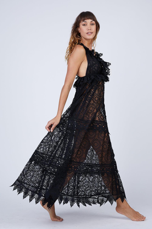 b20ba48e41 WAIMARI Chic Escape Sheer Lace Maxi Dress - Black | BIKINI.COM