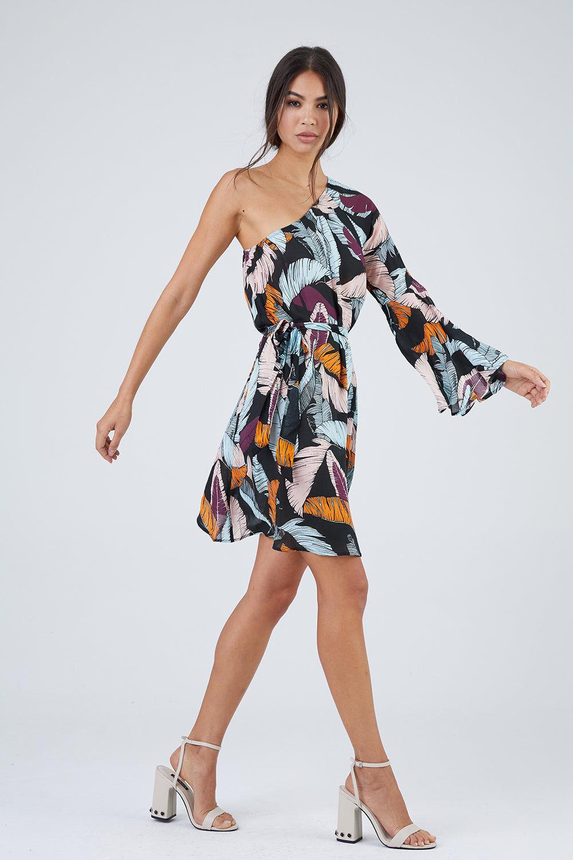 MAAJI Walk On The Beach Dress - Leaf Print Dress | Leaf Print|Walk On The Beach Dress