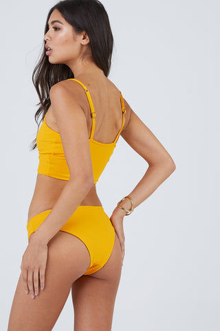 MAAJI Farrah's Sublime Reversible Moderate Bikini Bottom - Sunshine/Sunshine Print Bikini Bottom | Sunshine/Sunshine Print| Maaji Farrah's Sublime Reversible Moderate Bikini Bottom - Sunshine/Sunshine Print Hipster style   Moderate coverage  Reversible Back View