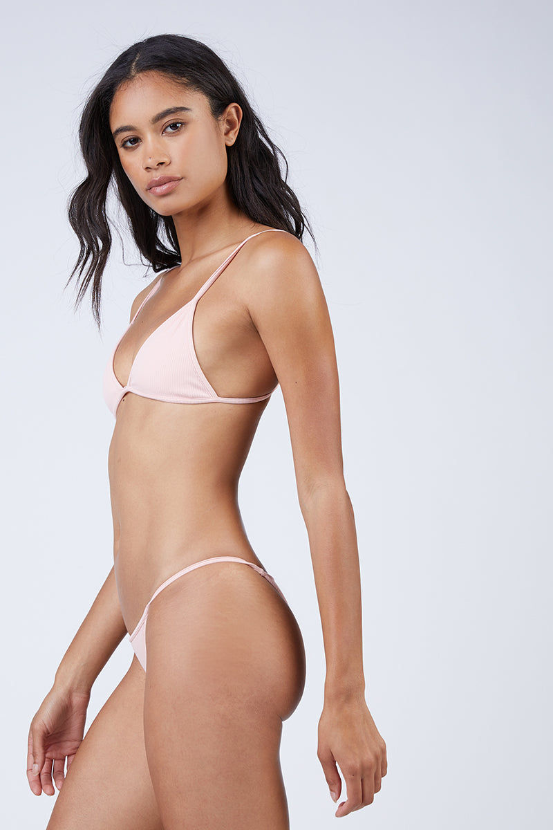 MGS Low Tide Skimpy Bottom - Bubblegum Rib Bikini Bottom | Bubblegum Rib|Low Tide Skimpy Bottom Side