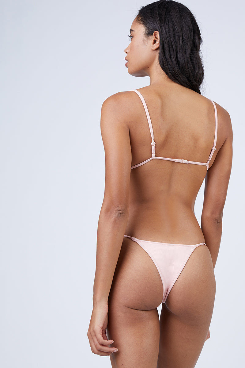 MGS Low Tide Skimpy Bottom - Bubblegum Rib Bikini Bottom | Bubblegum Rib|Low Tide Skimpy Bottom Back View