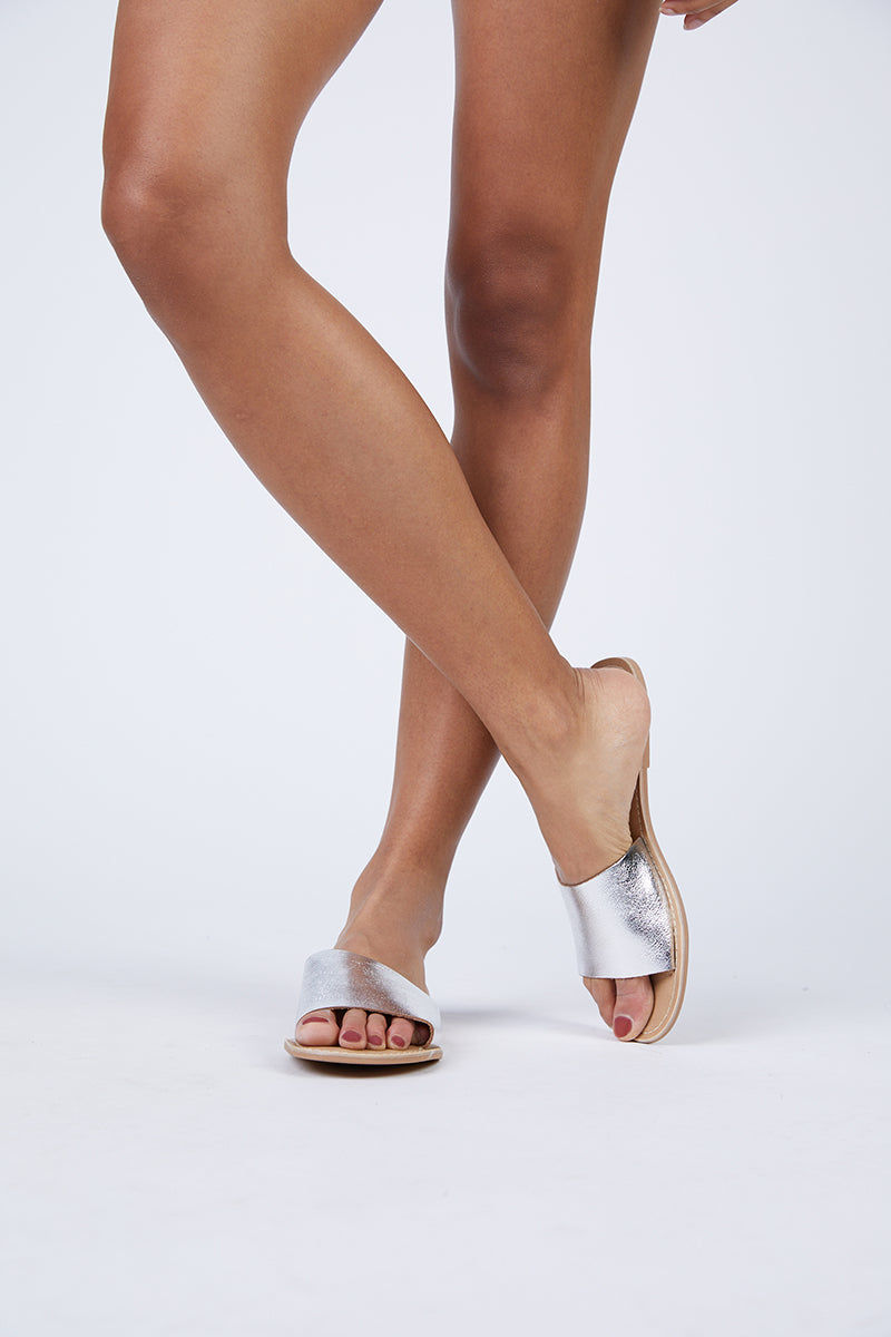 MATISSE Cabana Leather Sandals - Silver Sandals   Matisse Cabana Leather Sandals - Silver Upper: Leather   Outsole: Man Made Synthetic Leather Lining   Padded Insole