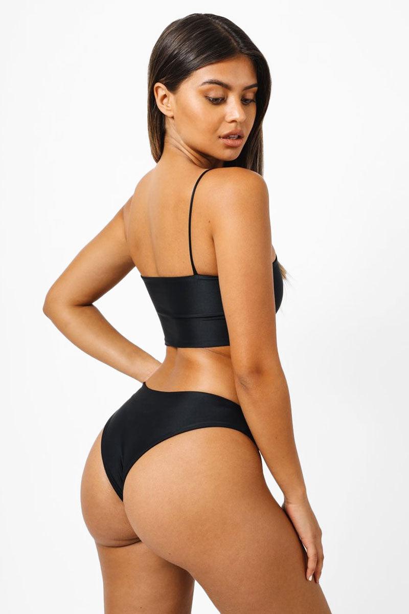 c69cc7f699a31 ... KAOHS Brigitte Bandeau Bikini Top - Black Bikini Top