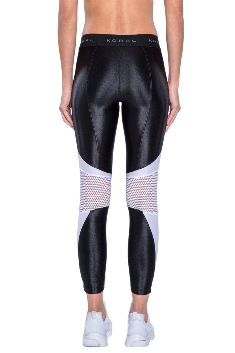 KORAL Emblem Cropped Legging - Black Leggings | Black| KORAL Emblem Cropped Legging Back View
