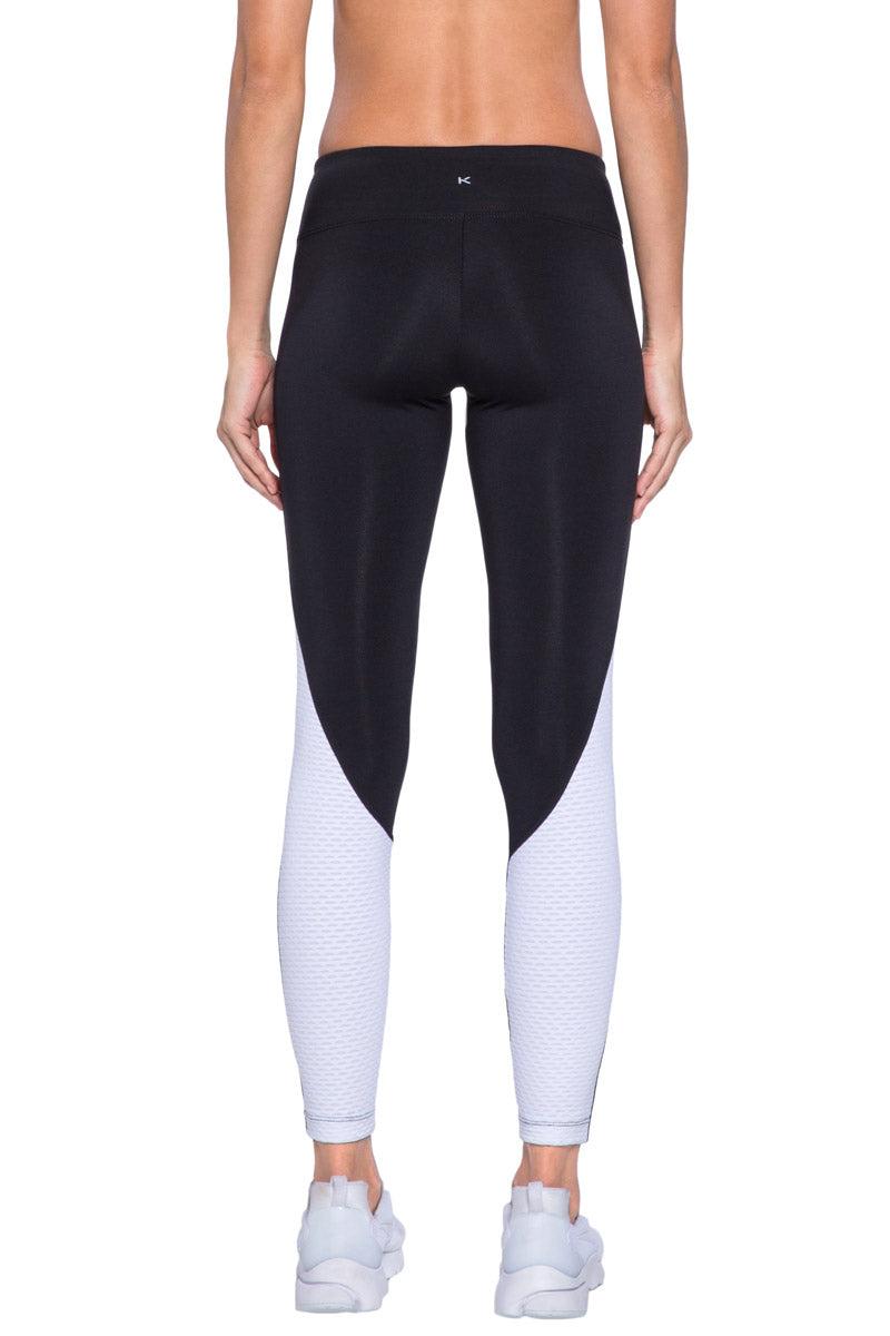 KORAL Hull Legging - Black And White Leggings | Black And White| KORAL Hull Legging Back View