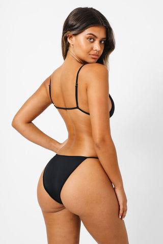b97c1bae404edf KAOHS Kelly Triangle Bikini Top - Black | BIKINI.COM