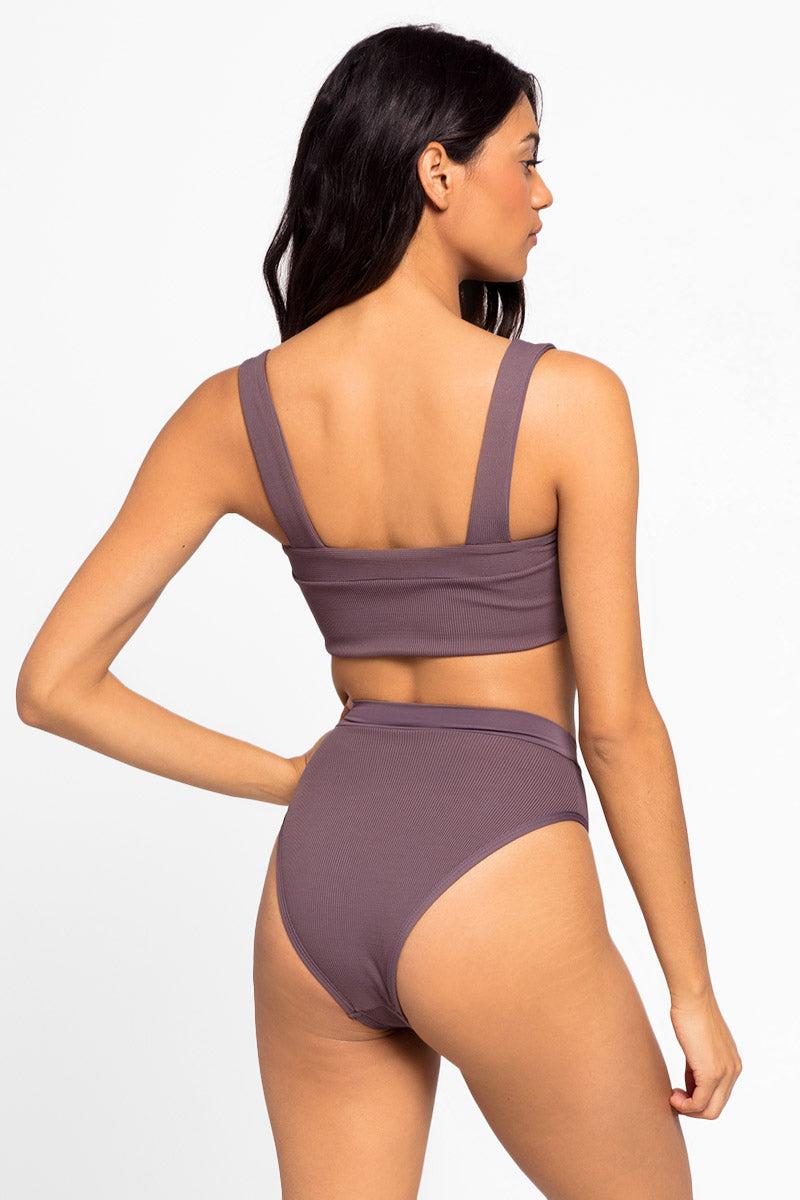 895043cb0797c L SPACE Frenchi High Waist Bikini Bottom - Pebble | BIKINI.COM