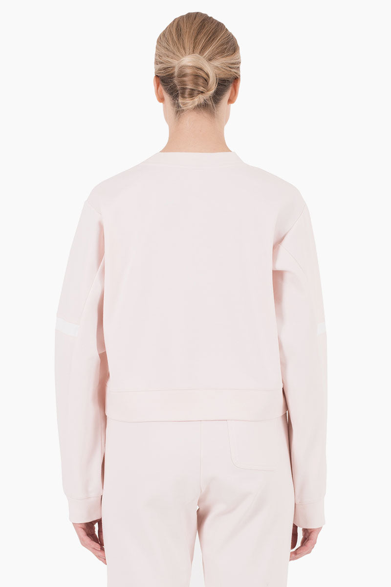 NYLORA Campbell Scoop Neck Long Sleeve Sweatshirt - Blush Top | Blush| Nylora Campbell Pullover Top - Blush. Features:   Pullover Sweatshirt Scoop neckline  Long sleeves  Back View