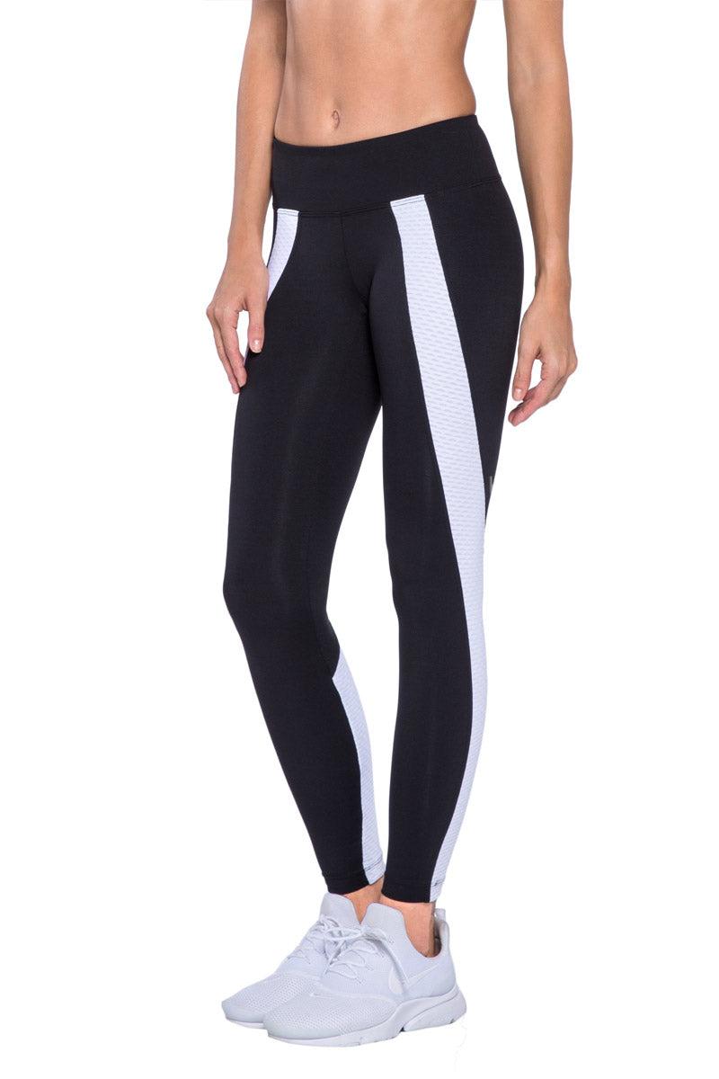 KORAL Hull Legging - Black And White Leggings | Black And White| KORAL Hull Legging Side View