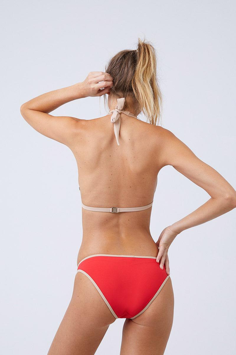 MOEVA Lucia Bikini Bottom - Red/Nude Bikini Bottom | Red/Nude | MOEVA Lucia Bikini Bottom Back View