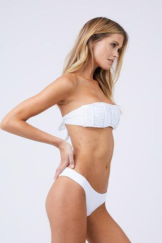 5a93afe628 PILYQ Bandeau Isla Bikini Top - White | BIKINI.COM
