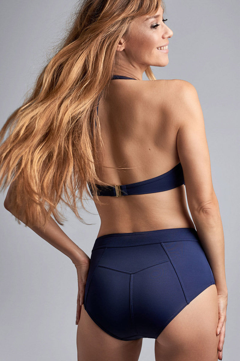 MARLIES DEKKERS Padded Push Up Bikini Top - Royal Navy Bikini Top | Royal Navy| MARLIES DEKKERS Padded Push Up Bikini Top - Royal Navy. Features:  The gold colored & maritime inspired ornaments radiate luxury The padded cups give you extra support and the pleats accentuate your curves Handle this beautiful bikini top with care and wash it by hand Materials: 82% nylon 18% spandex | nickel free Care information: hand wash do not rub, wash with similar colours, wash in laundry bag, do not bleach, do not iron, do not dry clean, do not tumble dry Back View