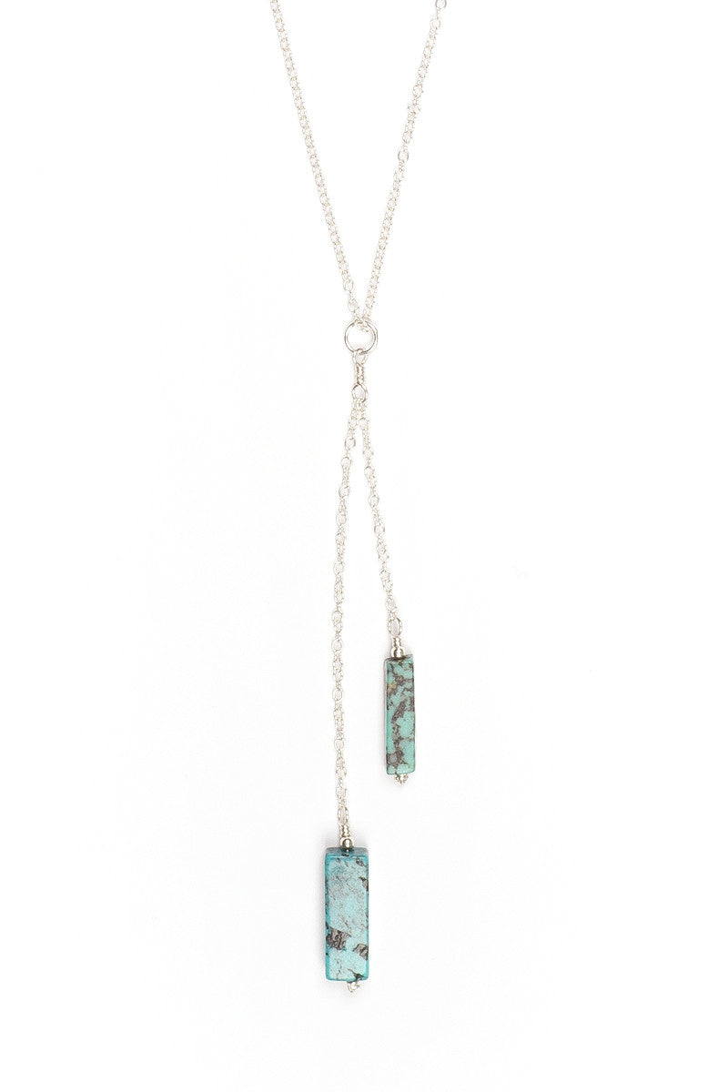 MAILEE Tiered Turquoise Necklace - Silver Jewelry | Silver|