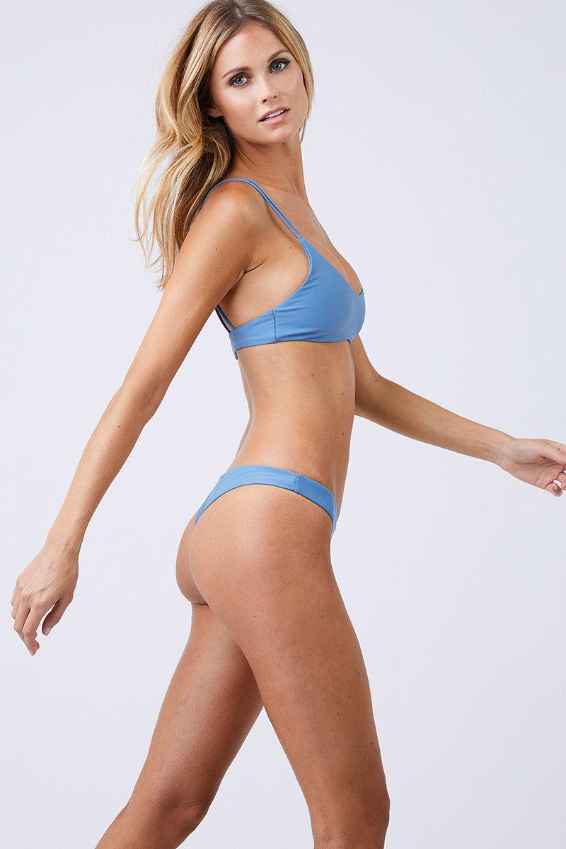 JADE SWIM Duality Double Strap Bikini Top - Sky Bikini Top | Sky| Jade Swim Duality Double Strap Bikini Top - Sky  Side View Bralette Style Bikini Top Scoop Neckline Comfortable Double Looped Through Straps