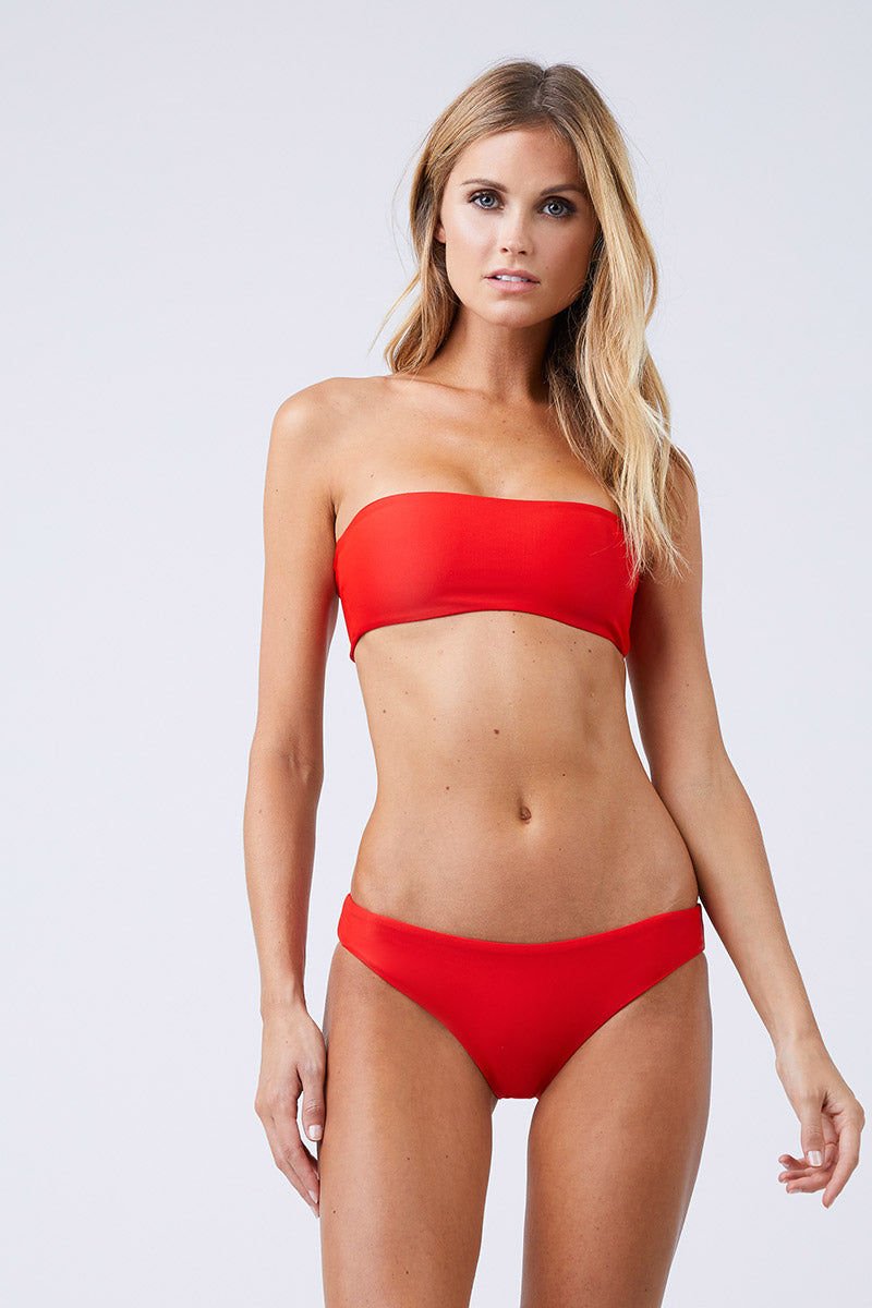 827dba5a791de JADE SWIM Lure Hipster Bikini Bottom - Lava