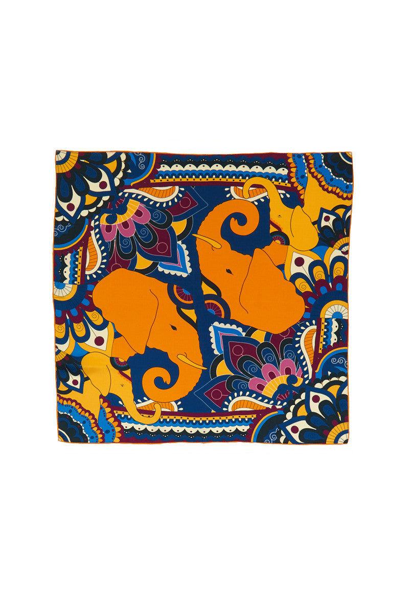 A.M. CLUB 100% Silk Scarves Accessories   Elephant Evolution Thailand   A.M. Club 100% Silk Scarves