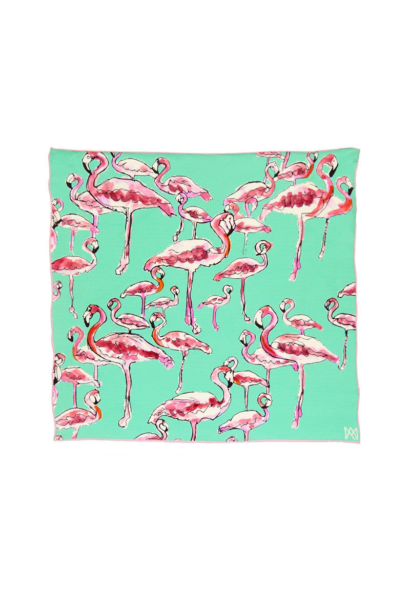 A.M. CLUB Silk Georgette Scarves Accessories | Flamingo Lingo| A.M. Club Silk Georgette Scarves