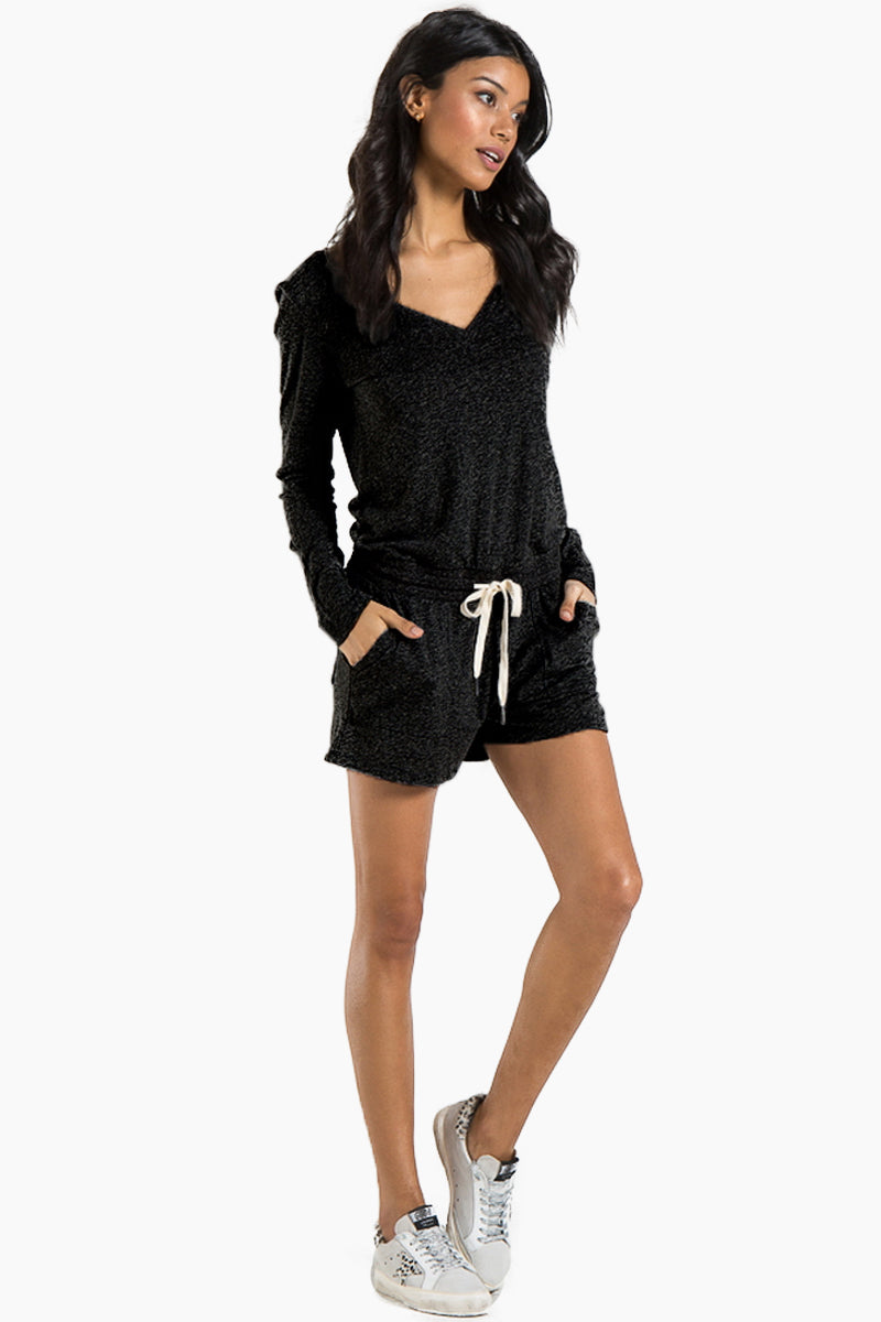 1ed4e4baae36 N PHILANTHROPY Arroyo Long Sleeve Romper - Black Cat
