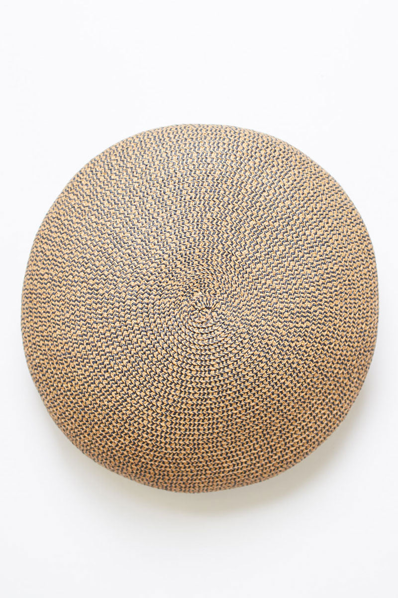 """BRIXTON Audrey Straw Beret - Copper/Navy Hat 