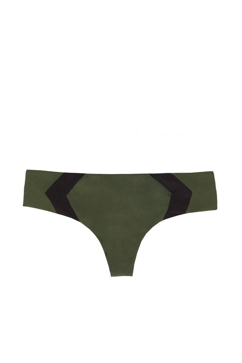 ACACIA Mentawai Chevron Brazilian Bikini Bottom - Palm/Storm Bikini Bottom | Palm & Storm| Acacia Mentawai Bikini Bottom