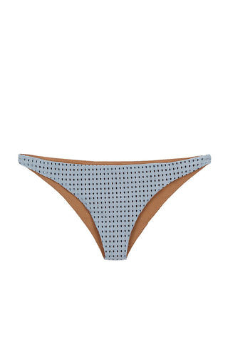 ACACIA Waikoloa Mesh Moderate Bikini Bottom - Sky Grey Bikini Bottom | Sky Mesh| Acacia Mesh Waikoloa Moderate Bikini Bottom - Sky Grey Cheeky coverage Mesh design Double lined in nude Imported Italian Nylon/Spandex Front View