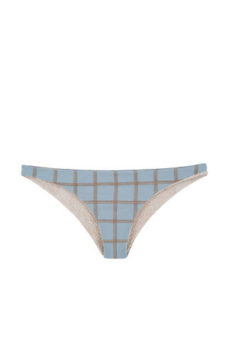 ACACIA Waikoloa Stitched Cheeky Bikini Bottom - Stitched Sky Bikini Bottom | Stitched Sky| Acacia Stitched Waikoloa Bikini Bottom - Sky Blue Cheeky coverage Stitched design Double lined Imported Italian Nylon/Spandex| View: Flat Lay