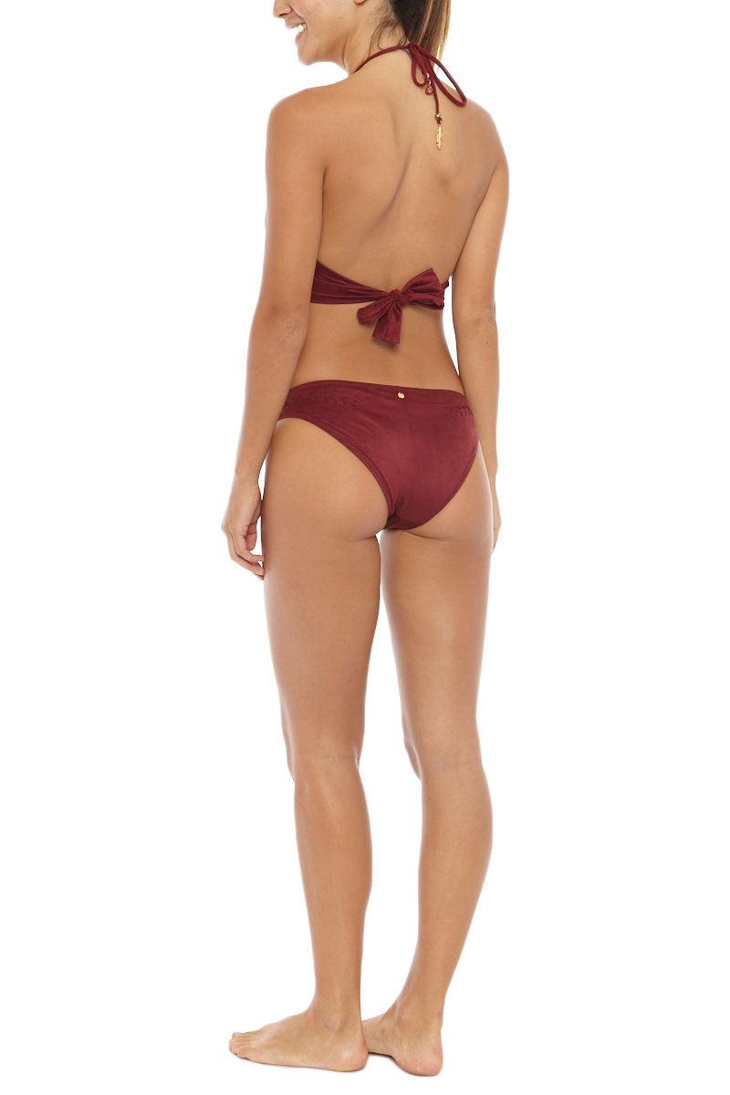ALE Holy Cow Fringe Crop Top Bikini Top | Burgundy| Ale Holy Cow Fringe Crop Top