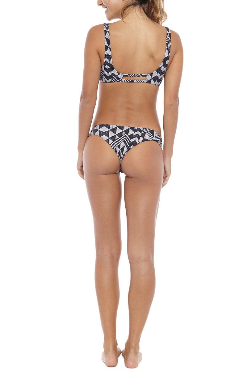 AMUSE SOCIETY Flin Skimpy Bottom Bikini Bottom | Black Sands| Amuse Society Flin Skimpy Bottom