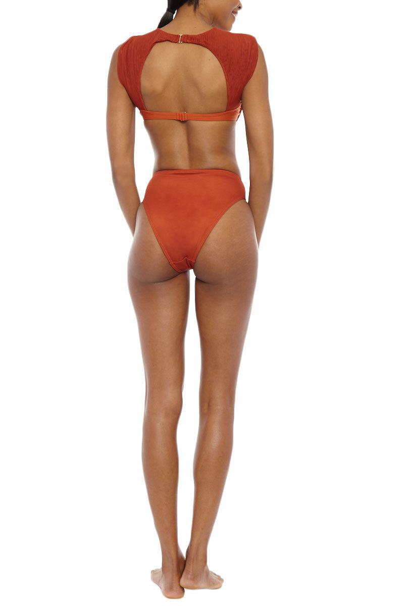 ANDREA IYAMAH High Cut High Waist Bikini Bottom - Rhine Print Bikini Bottom | Rhine Print| Andrea Iyamah Rhine High Waist Bikini Bottom