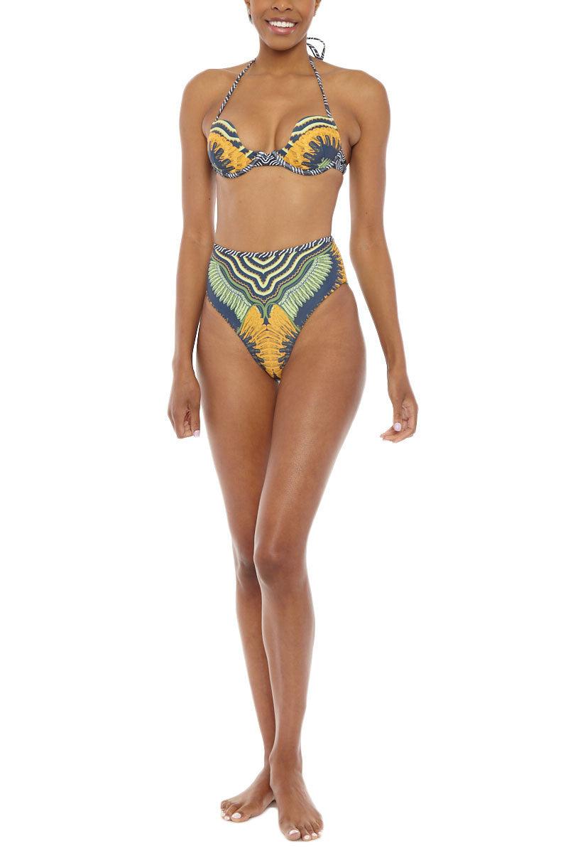 ANDREA IYAMAH Seda High Waist Bikini Bottom Bikini Bottom | Seda Print| Andrea Iyamah Seda High Waist Bikini Bottom