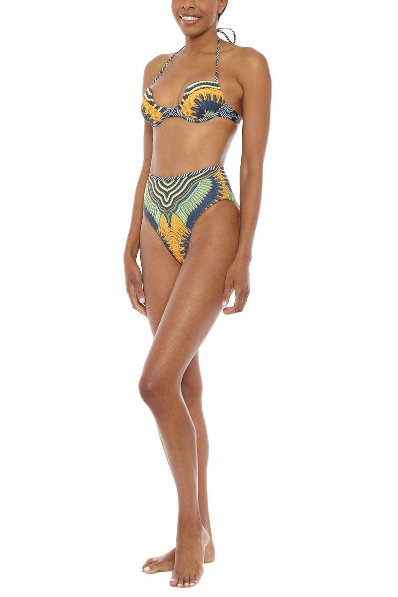 ANDREA IYAMAH High Cut High Waist Bikini Bottom - Seda Print Bikini Bottom | Seda Print| Andrea Iyamah Seda High Waist Bikini Bottom