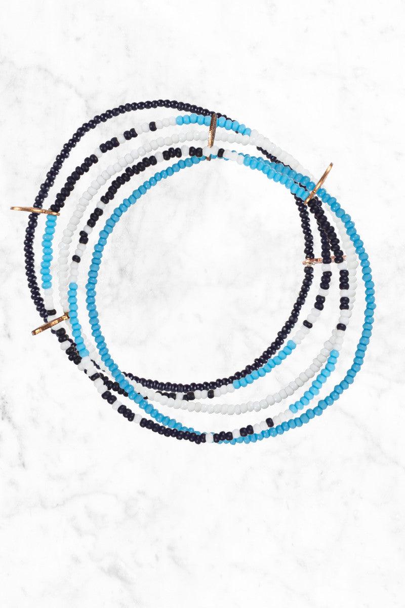 BEAD RELIEF Stoked Bracelet Jewelry | blue/black/white| bead relief stoked