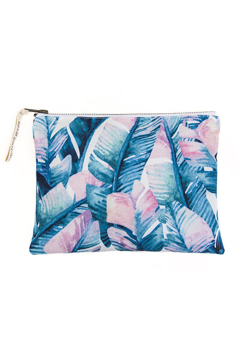 VAGABONDS GOODS Bali Palm Wet Bikini Bag Bag | Bali Palm| Vagabond Goods Bali Palm Wet Bikini Bag Zipper Closure Wet Bikini Bag Vibrant Tropical Palm Leaf Print Handmade in Bali