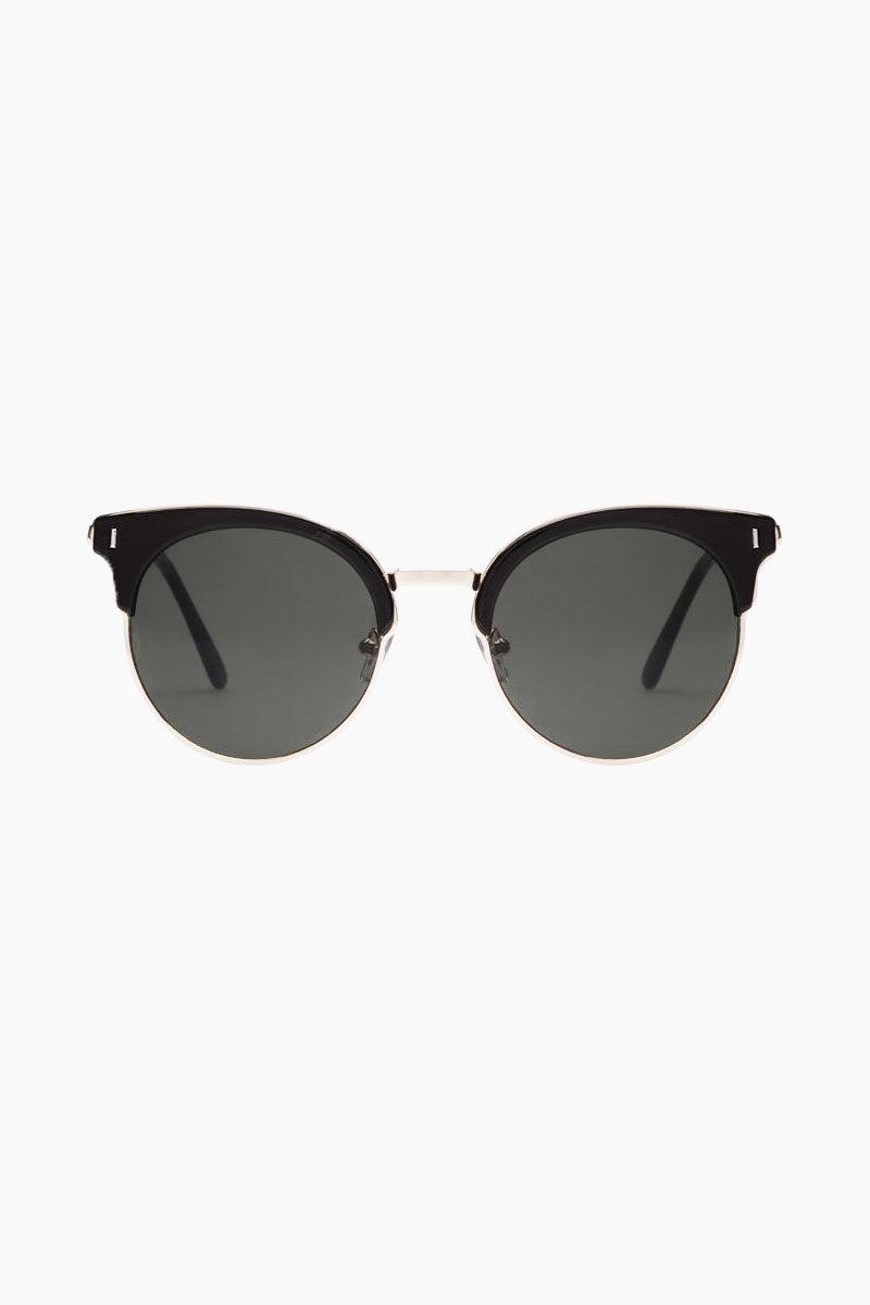 MINKPINK SUNGLASSES Bayside Sunglasses - Black Sunglasses   Bayside - Black   Minkpink Sunglasses Front View Bayside - Black