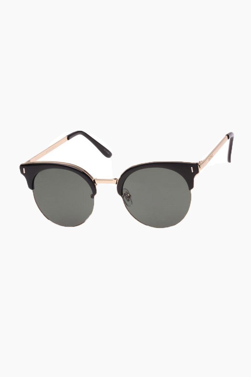 MINKPINK SUNGLASSES Bayside Sunglasses - Black Sunglasses   Bayside - Black   Minkpink Sunglasses Side View Bayside - Black