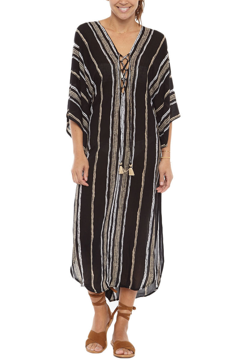 BEACHGOLD Drift Delray Kaftan Cover Up Dress Dress | Jet| Beachgold Drift Delray Kaftan Cover Up Dress