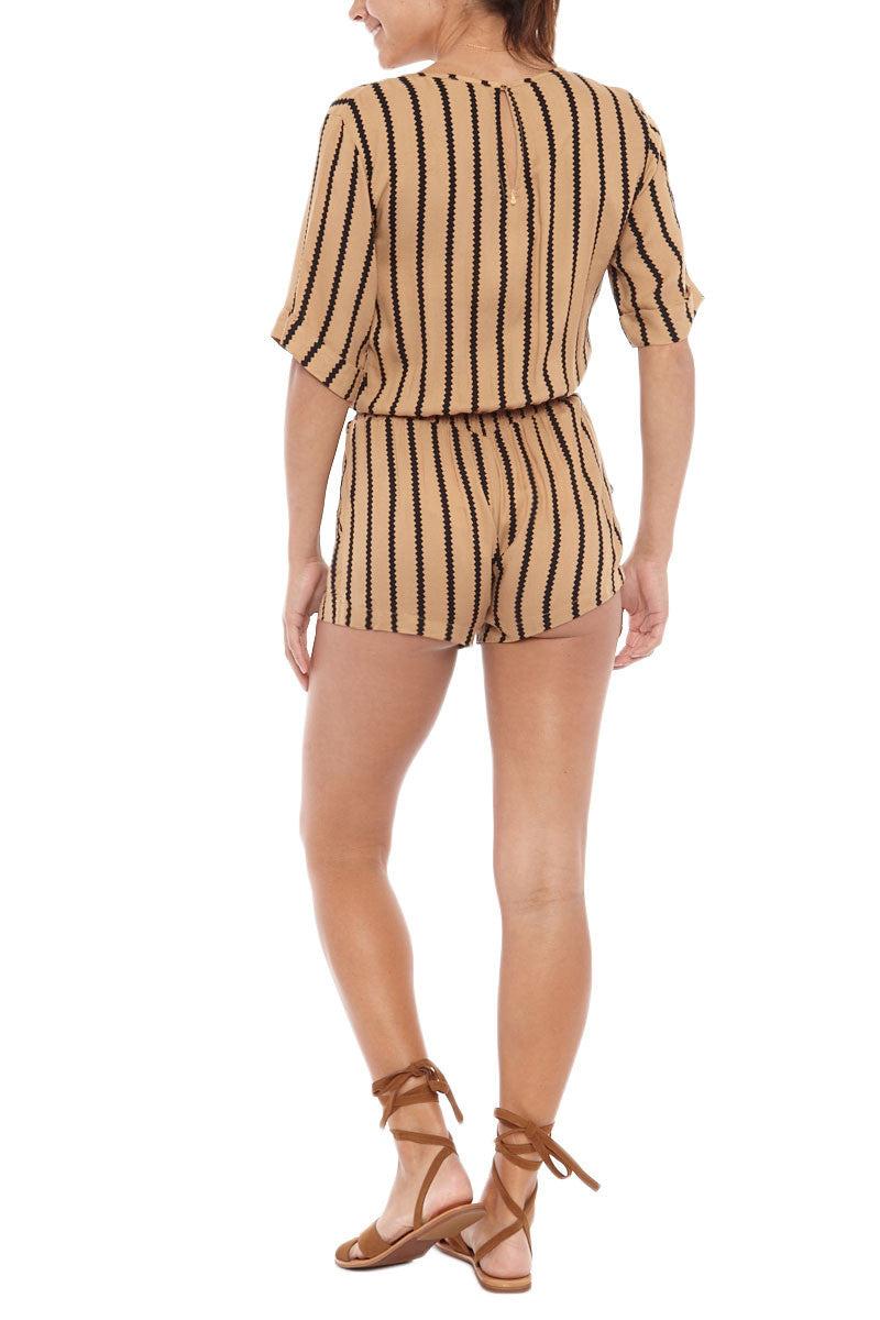 BEACHGOLD Mali Picolo Playsuit - Toffee Romper | Toffee| Beachgold Mali Picolo Playsuit - Toffee'