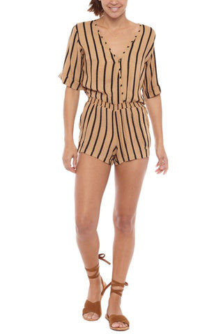 BEACHGOLD Mali Picolo Playsuit - Toffee Romper | Toffee| Beachgold Mali Picolo Playsuit - Toffee